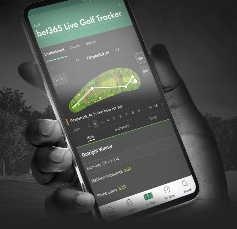bet365 live golf tracker